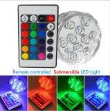 Waterproof RGB Remote Control Submersible Vase 10 LED Candle Lamp