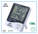 Portable LCD Clock Digital C/F Thermometer Hygrometer Indoor