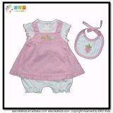 Soft Cotton Baby Clothes Dress Match Bib Baby Gift Sets