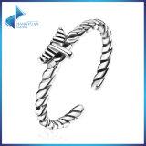 Unisex Fine Jewelry 925 Sterling Silver Hemp Rope Open Finger Ring