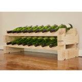 Stackable Modularack Wood Free Standing 16-Bottle Floor Wine Rack
