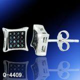 Fashion Diamond Earrings Silver Jewelry Factory Hotsale