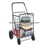 Foldable Metal Supermarket Shopping Cart with Wheels