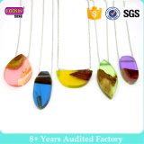 Colorful Resin Wood Necklace Handmade New Design