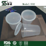 Deli Food Containers Round Bowl of Plastic 32 Oz. (with Lids)