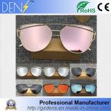 Cat Eyes Fashion Brand Sunglasses Metal Color Film Sunglasses