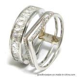 Fashion 925 Silver Rings with Irregular Shape AAA CZ (R10600)