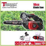 18cc portable green works chain saw