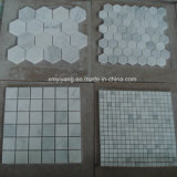 White Marble Stone Mosaic Tile for Outdoor Landscape Wall (YY-MS197)
