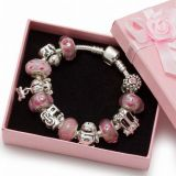 925 Silver Kid Bracelet for European Charm Beads (K01)
