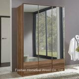New 3 Doors Wooden Mirrored Wardrobe Dresser (WB12)