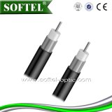 Qr500 Coaxial Cable with Self-Supporting Steel Messenger