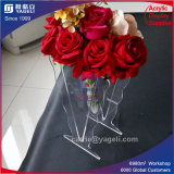 Hot Red Acrylic Vase for Home Decoration