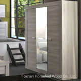 Fashion Modern Bedroom 3 Door Mirrored Wardrobe (WB54)