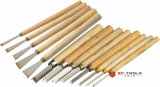 White Steel Wood Handle Carving Knife Chisels Tools Set (H01009)