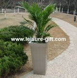 Tall Tapered Cube Stainless Steel Planter (FO-9014)
