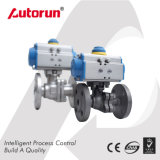 Wcb/Stainless Steel Pneumatic Flange Ball Valve