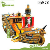 Popular Jumping Kids Inflatable Bouncer Pirateship for Sale