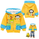 Wholesale New Design Lambs Wool Han Edition Yellow Cheap Fur Formal Long Winter Coats for Kids (KC1601)