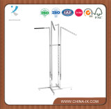 Customized 4 Way Garment Rack 2 Slant Arm 2 Straight Arm