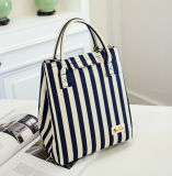 Waterproof Lunch Case Non-Woven Fabric Oxford Stripe Cold Insulation Bag
