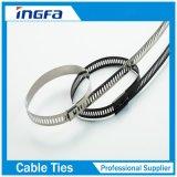 304 Steel Material Ladder Steel Zip Ties with Multi Barb Lock 7X300mm