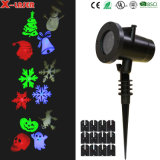 LED Project Light with 12 Interchangeable Slides for Holiday Decorations