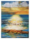Handmade Canvas Coast Oil Painting (LH-M170511)