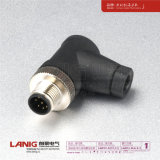 M12 Connector a Coded 8p Male Right Angled with Cable Plug