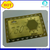 Gold Plated Hollow Engraved Metal Card for Promotion Gift