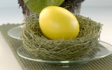Clear Hanging Glass Easter Egg for Gift