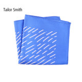 Fashionable Blue Silk Printed Pocket Square Hanky Handkerchief