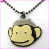 Handmade Logo Tag Banana Chippy a Jolly Monkey Necklace (16654)