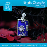 Chinese Style 925 Sterling Silver Lapis Lazuli Jewelry Pendant Daisy Series