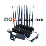 12 Band High Power Cell Phone Jammer Power Adjustable Mobile Signal Jammer