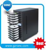 Stable CD-R Burner Writer with 11 Trays CD DVD Duplicator