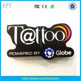 Hot Customized PVC/Silicon Brand Shaped USB Stick (EG568)