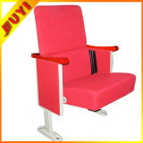 Jy-302s Dimensions Outdoor Stackable Concert Chair with Armrest Cinema Hall Chair Wooden High Chair