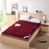 Luxury Flannel Discount Double Bed Mattress Cushion Topper Bed Pad