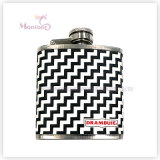 3 Ounce Liquor/Whisky Flask, Leather Covered Stainless Steel Hip Flask