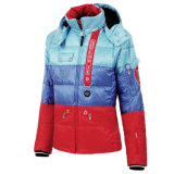 2015 Ladies Shiny Colorful Padded Winter Goose Down Jacket
