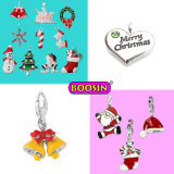 Colorful Enamel Christmas Charms Pendants, Alloy Enamel Bracelet Charms Wholesale