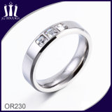 3 Stones Stainless Steel Ring