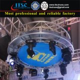 Aluminum Truss Circles with Stage Lighting