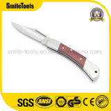 Stainless Steel folding Knife with Wooden Handle