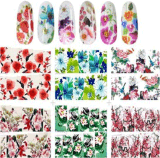 Fashionalble Flower Water Transfer Nail Art Stickers Nail Sticker