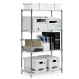 Chrome Adjustable Metal Wire Office File Rack