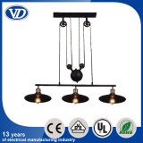 Vintage Pendant Lamp Iron Pulley Light Bar Restaurant Home Chandelier
