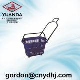 High Quality Four Wheels Supermarket Trolley Basket Zc-9