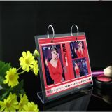 Hot Sale Slanted Countertop Acrylic Calendar Display Stamd